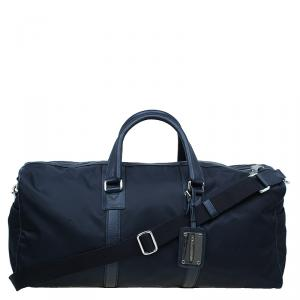 Dolce and Gabbana Black Nylon/Leather Profile Travel Bag