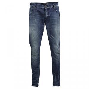 Dolce and Gabbana Indigo Faded Effect Distressed Sretch Denim Jeans XXL