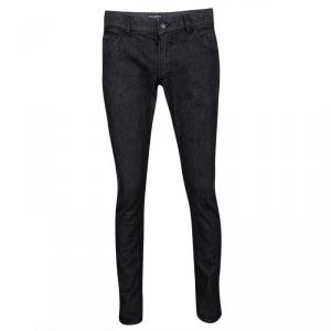 Dolce and Gabbana 14 Gold Black Faded Effect Denim Straight Fit  Jeans M