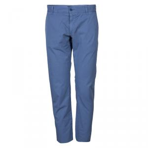 Dolce and Gabbana Blue Cotton Trousers M