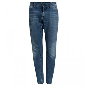 Dolce and Gabbana Indigo Distressed Denim Jeans L