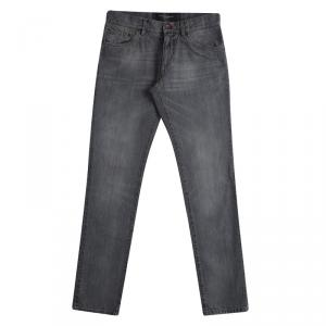 Dolce And Gabbana Grey Faded Effect Straight Fit Jeans S