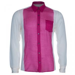 قميص درايز فان نوتن كتل لونية بأكمام طويلة M