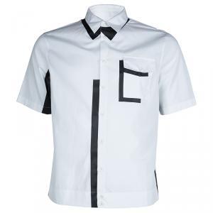 DSquared2 Monochrome Button-down Short Sleeve Cotton Shirt XXL