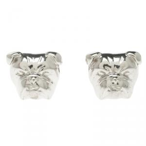 Alfred Dunhill Iconic Bulldog Silver Cufflinks