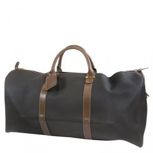 Dunhill Grey Coated Canvas Duffel Bag