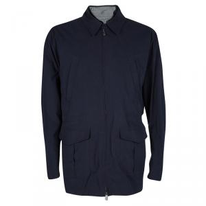 Dunhill Navy Blue Cotton Vest and Jacket Set L