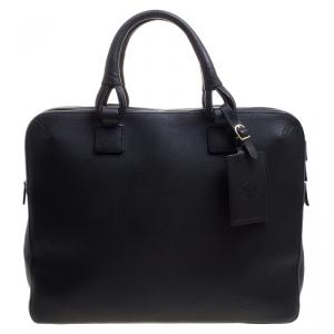 Dunhill Black Leather Business Briefcase