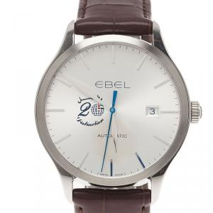 Ebel Silver Stainless Steel 100 Classic Men's Wristwatch 40MM
