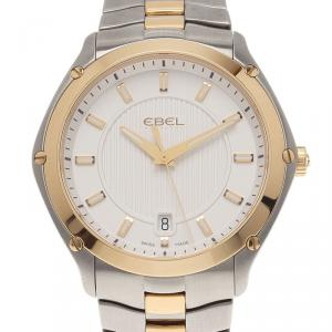 Ebel White Stainless Steel Classic Sport Men's Wristwatch 40MM