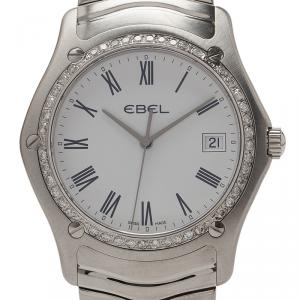 Ebel Mother of Pearl Stainless Steel Diamond Classic Men's Wristwatch 36MM