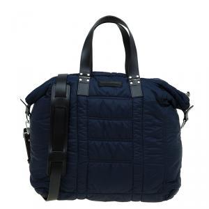Emporio Armani Navy Blue Nylon Padded Shopper Tote