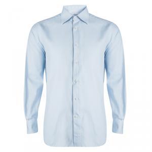 Ermenegildo Zegna Light Blue Button Front Slim Fit Shirt XXL