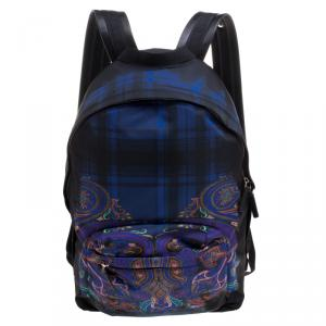 Etro Black Paisley Printed Nylon Backpack