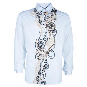 Etro Men's White Embroidered Shirt XXL