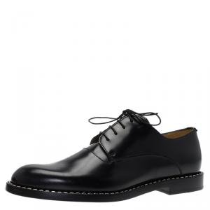 Fendi Black Leather Oxfords Size 42