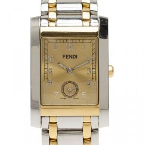 Fendi Silver and gold Stainless Steel Men's watch 36MM