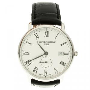 Frederique Constant White Stainless Classics Slim Line  FC 245WR5S6 Men's Wristwatch 39 mm