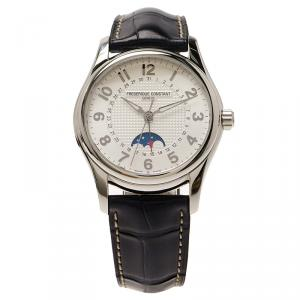 Frederique Constant White Stainless Steel Runabout Men's Wristwatch 43MM
