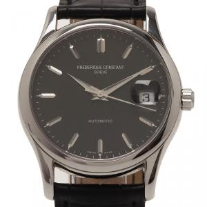 Frederique Constant Black Stainless Steel Classic Men's Wristwatch 37MM