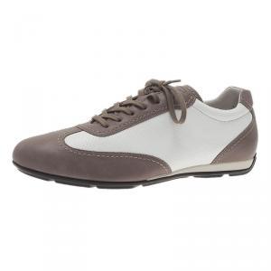Giorgio Armani Two-Tone Leather Sneakers Size 44