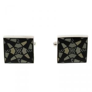 Givenchy Grey Enamel Cufflinks