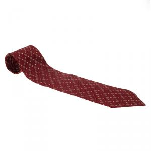Givenchy Red Logo Silk Tie