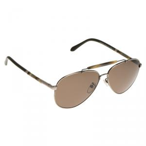 Givenchy Silver and Green SGV 461N Aviator Sunglasses