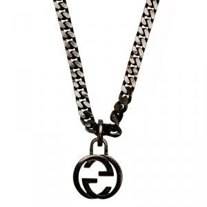Gucci Interlocking G Pendant sterling silver Necklace
