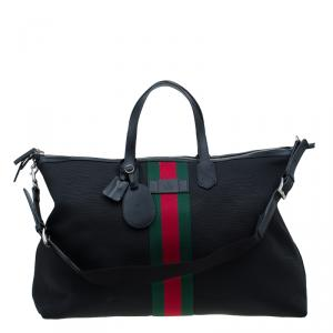 Gucci Black Canvas Techno Carry-On Duffle Bag