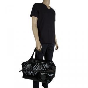 Gucci Black Coated Fabric Carryall Duffle Bag