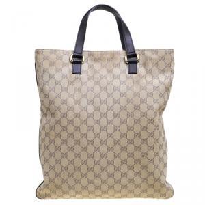 Gucci Beige GG Canvas Portfolio Shopper Tote