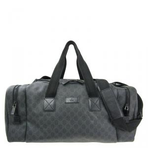 Gucci Black GG Supreme Coated Canvas Duffel Bag