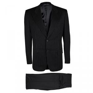 Gucci Black Wool Pinstriped Tailored Suit L
