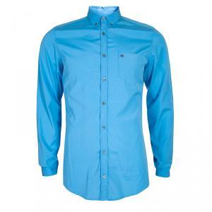 Gucci Men's Blue Cotton Shirt M