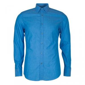 Gucci Men's Blue Slim Fit Shirt M
