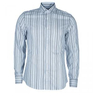 Gucci Men's  Navy Striped Shirt M