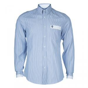 Gucci Men's  Blue Striped Shirt M