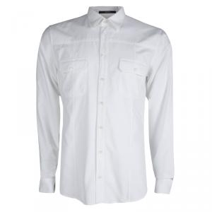 Gucci White Cotton Long Sleeve Button Front Slim Fit Shirt L