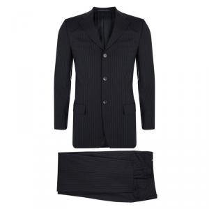Gucci Black Striped Wool Suit S