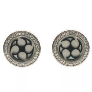 Harry Winston Ocean Diamonds & 18k White Gold Round Cufflinks