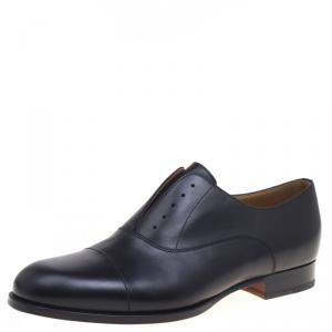 Hermes Black Leather Napoli Derby Size 44