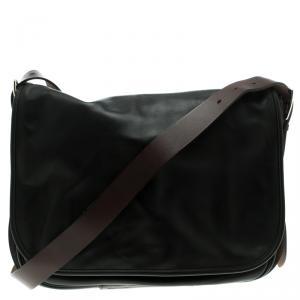Hermes Black Box Calf Leather Barda Messenger Bag