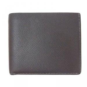 Hermes Black Leather Bi-Fold Wallet