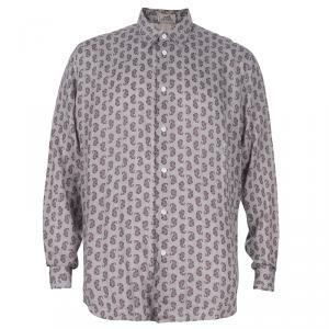 Hermes Men's Beige Printed Shirt L