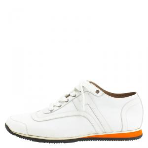 Hermes White Leather Kool Sneakers Size 42