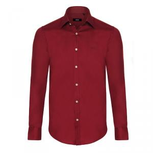 Boss by Hugo Boss Bordeaux Red Long Sleeve Shirt S