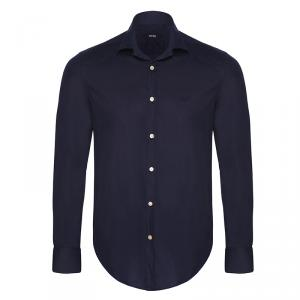 Boss by Hugo Boss Navy Blue Long Sleeve Shirt S