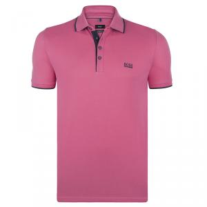Boss by Hugo Boss Pink Cotton Logo Short Sleeve Polo Shirt M