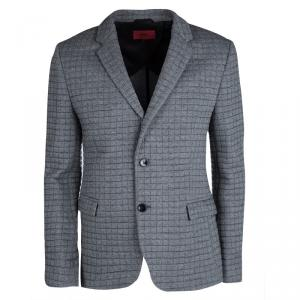 Hugo by Hugo Boss Grey Quilted Arwido Blazer M